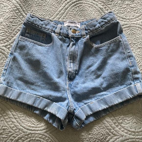 American apparel denim shorts. Lightly used